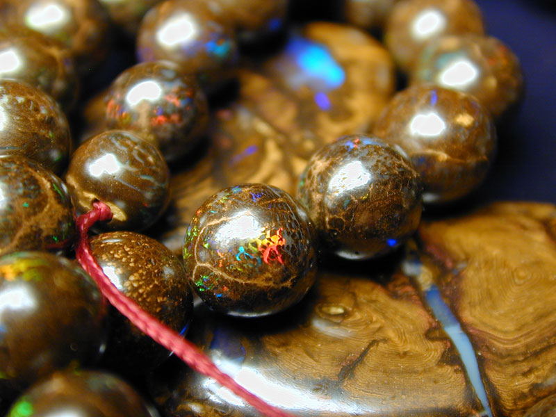 Sold Individually Random Selection Bling Beads blingbeads Natural Boulder Opal in Matrix 15x20mm Puffed Oval Beads
